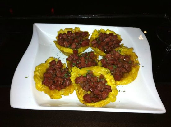 Fried Plantains Filled With Spanish Sausage Picture Of Pedro Restaurant Santiago De Los Caballeros Tripadvisor