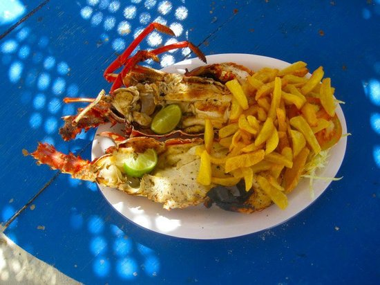 Wahoo Bay Beach Hotel Lobster We Had On The