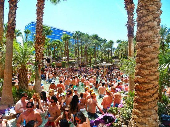 Hard Rock Hotel and Casino: Rehab: festa in piscina di ogni domenica