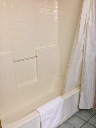 Abbey Inn: Bathroom in 2-queen-bedroom