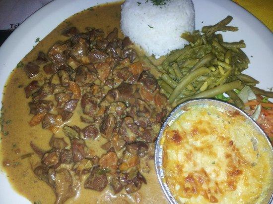 Riviere-Salee, Martinique: un menu apetisant.