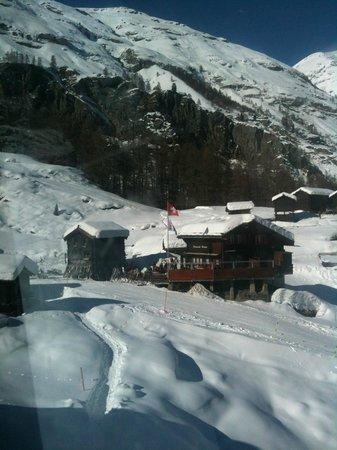 Bergrestaurant Blatten : Blatten seen from skilift to furi