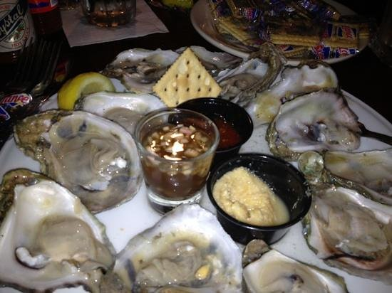 Crescent City Grill: salty small oysters--delicious