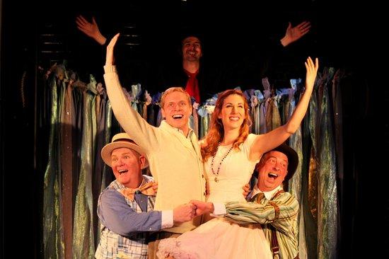 "Florida Repertory Theatre: ""The Fantasticks"" in Florida Rep's ArtStage Studio Theatre."