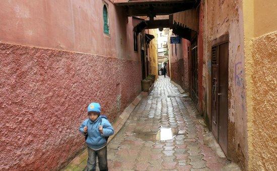 Dar Sweet Sultana: il vicolo della Medina di Meknes dov'è ubicato il riad