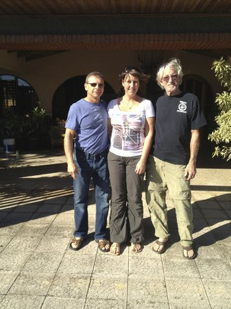 Alegria Bed and Breakfast: George and Us in front of Alegria B&B