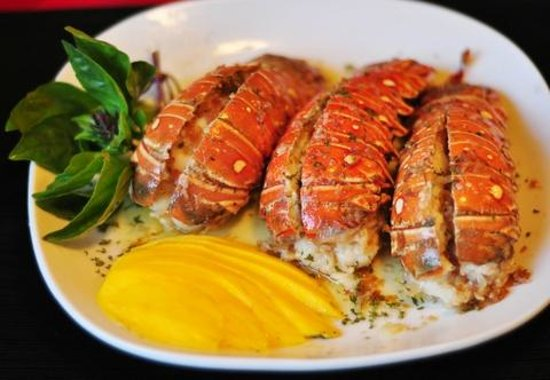 Tim Bamboo: Dinner-Lobster Tails in Lemon Buttered Sauce