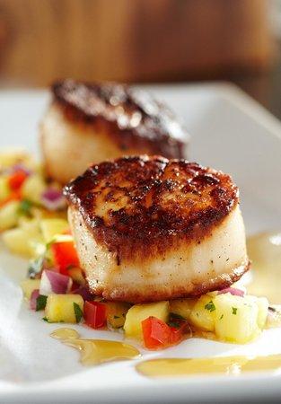 Shula's Steak House : Blackened Sea Scallops