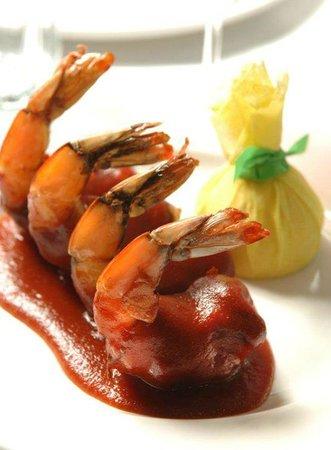 Shula's Steak House : BBQ Shrimp Stuffed With Basil
