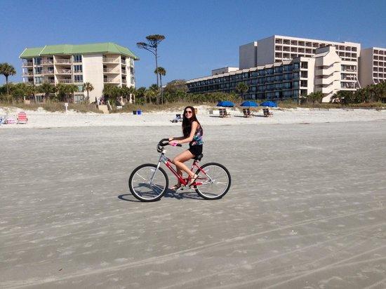 Captains Walk Villas Biking On The Beach