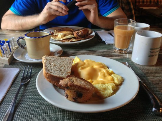 The Inn & Spa at Cedar Falls: the yummy breakfast