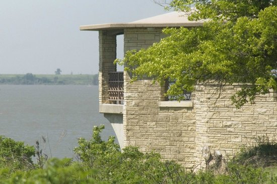 El Dorado, KS: Overlook Point Gazebo...East of Dam
