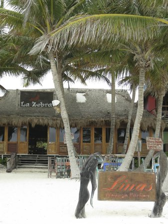 Las Palmas Maya: La Zebra. A great restaurant 2 minute walk from Las Palmas.