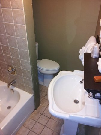 1905 Basin Park Hotel: The Bathroom is a tight fit
