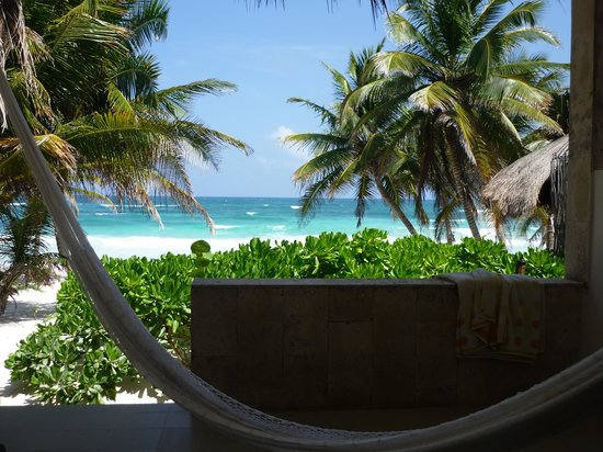 Cabanas Tulum: view from our room