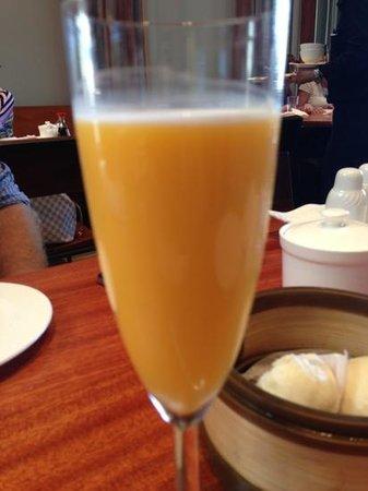 Steam: mango pudding