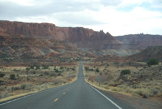 Capitol Reef Resort: view headed to Capitol Reef National Park