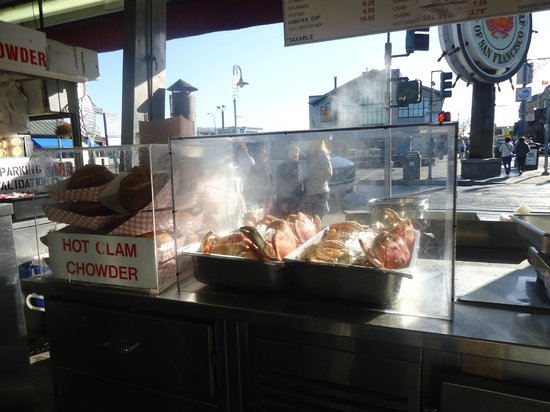 Fish markets offer their clam chowder and other choices for Fish market san francisco