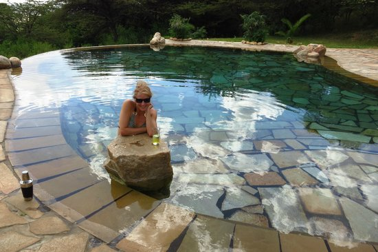Cottar's 1920s Camp & Bush Villa: Cooling off after an awesome game drive
