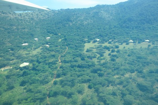 Cottar's 1920s Camp & Bush Villa: Arial view flying over the camp