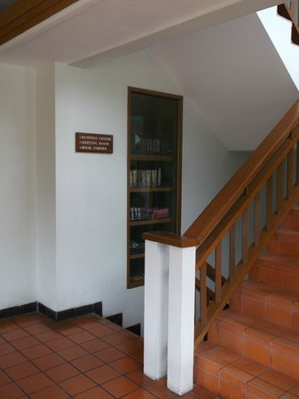 Staircase Leading To Library Computer Room And Conference