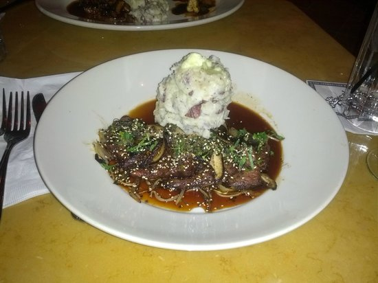 The Cheesecake Factory: Hibachi Steak with Wasabi Pots.
