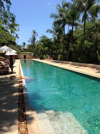 Renaissance Koh Samui Resort & Spa: the lap pool in upper section of hotel