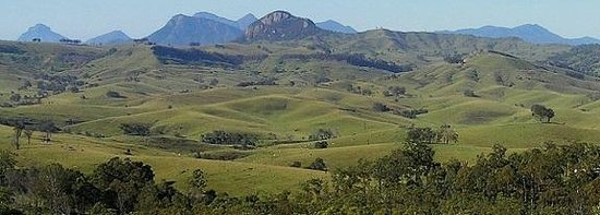 Cannon Creek, Australia: View of Knapps Peak from Ketchup's Bank Glamping