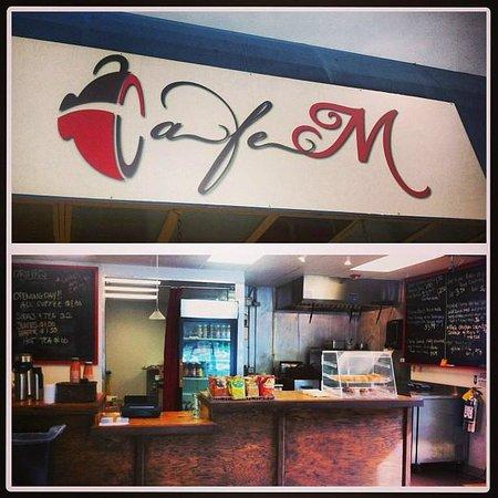 Cafe M: Cafe logo/storefront