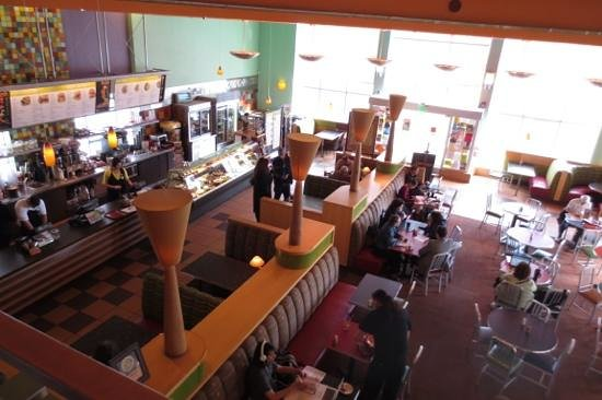 Flying Star Cafe - Downtown: Looking down from the mezzanine