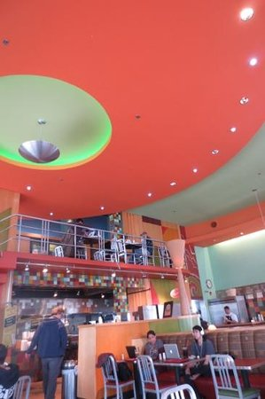 Flying Star Cafe - Downtown: Ceiling is way cool.