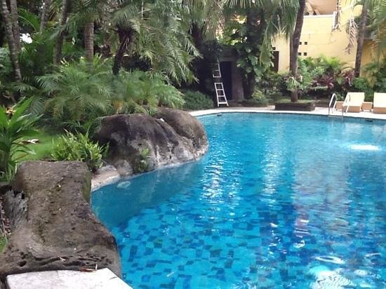 Rumah Siam Boutique Hotel: View of pool is bigger than picture looks
