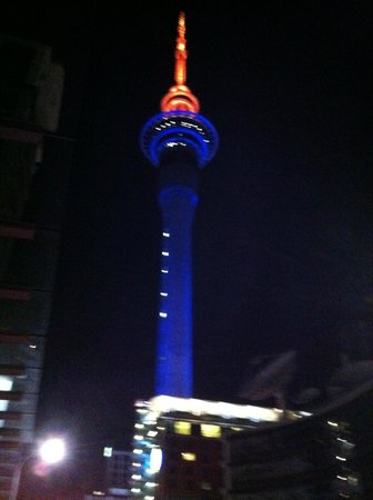 Heritage Auckland: Nicely lightedup SkyCity Tower