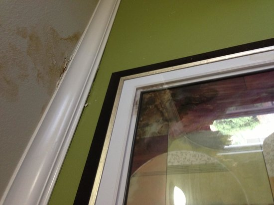 Rodeway Inn: Leaking mildewed celing