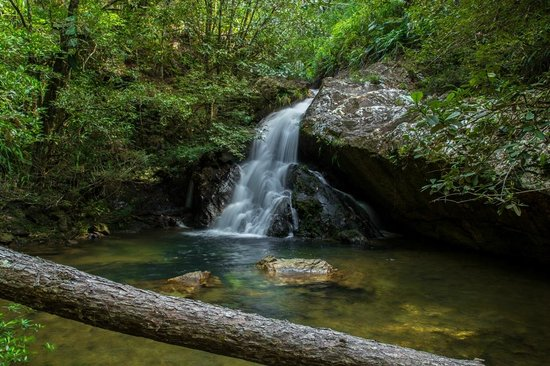 Hidden Valley Inn: A small waterfall along Clear Creek Trail