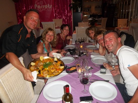 Parrots Restaurant: belle paella