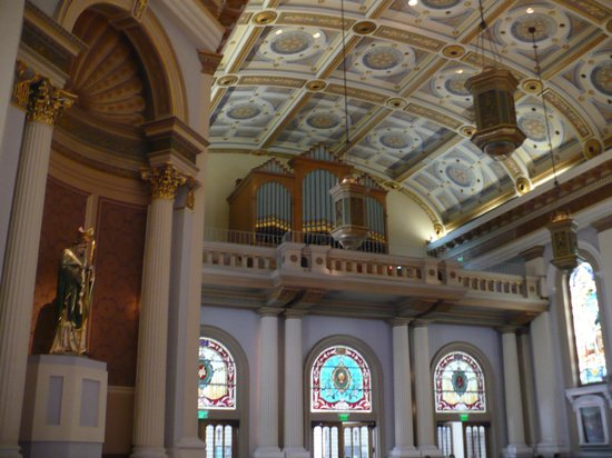 Cathedral Basilica of St. Joseph: interior featuring the organ