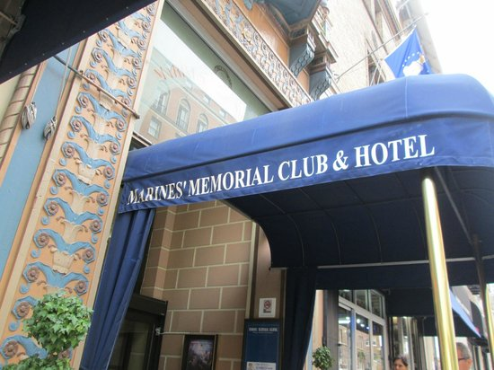 Marines Memorial Club Hotel: Outside