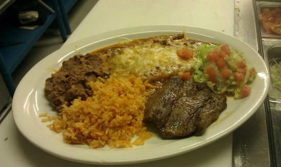 Jake's Bar and Restaurant: Tampiquena Plate