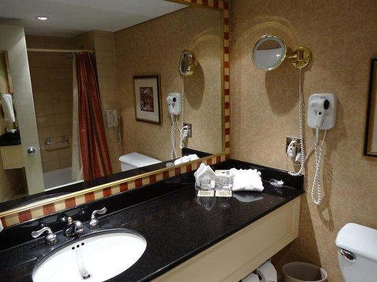 Hôtel Le Concorde Québec: Deluxe room bathroom