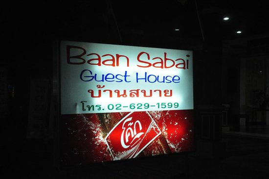 Baan Sabai: at the Entrance