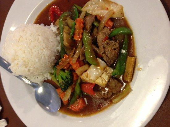 Thai Basil: Beef stir fry