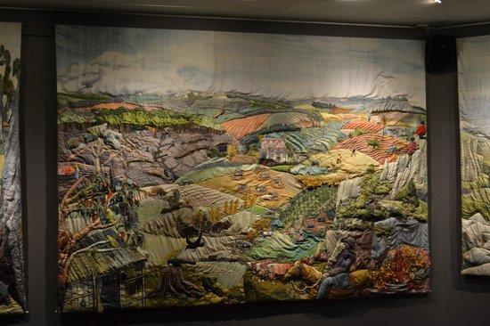 Yarns Artwork in Silk: One of the silk panels