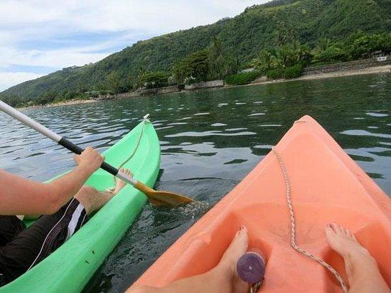 Taaroa Lodge: Free kayaks for use-- awesome!