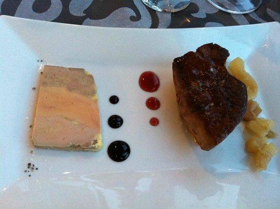 Les Terrasses de Saumur Restaurant : Entrée à base de foie gras