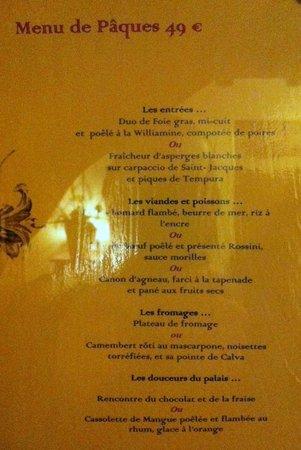 Les Terrasses de Saumur Restaurant : Le petit menu :)
