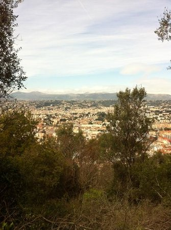 snowy mountains behind nice from mt boron