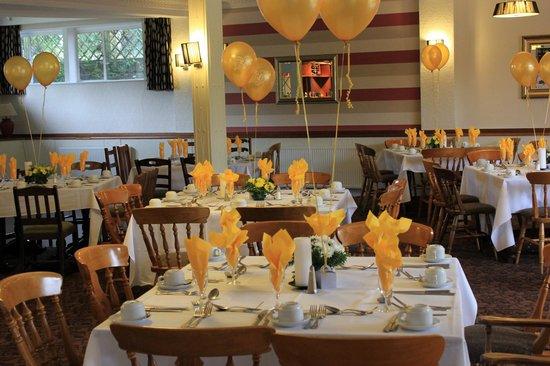 Beambridge Inn: Arundel room set for Golden wedding