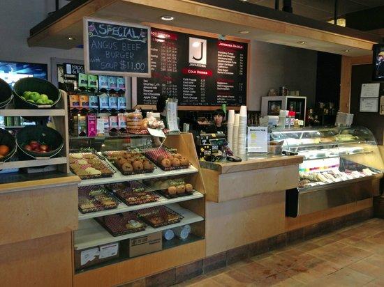 Javaroma Gourmet Coffee & Tea : The service area