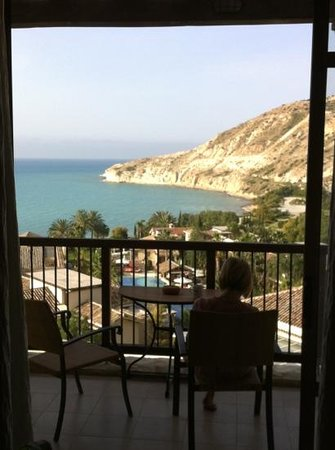 Columbia Beach Resort Pissouri: view from our panoramic suite.